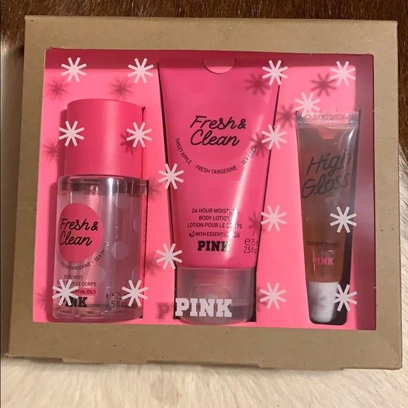 fresh and clean travel size gift set